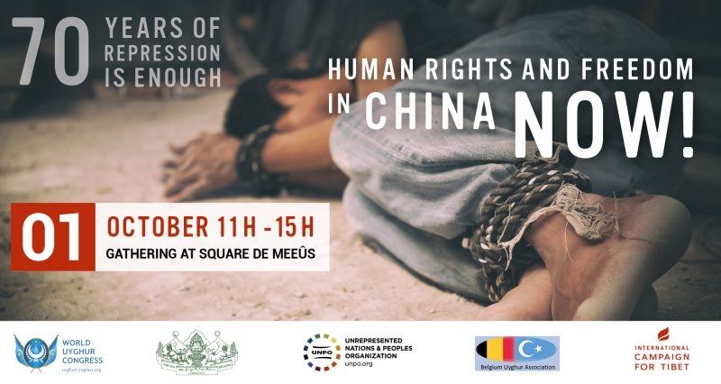 Tibetans, Uyghurs and Chinese dissidents to march for human rights on China's National Day