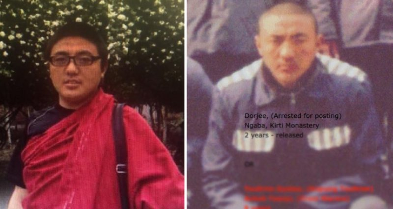 Monk sentenced to 3 years in prison, possibly for contacting people outside Tibet
