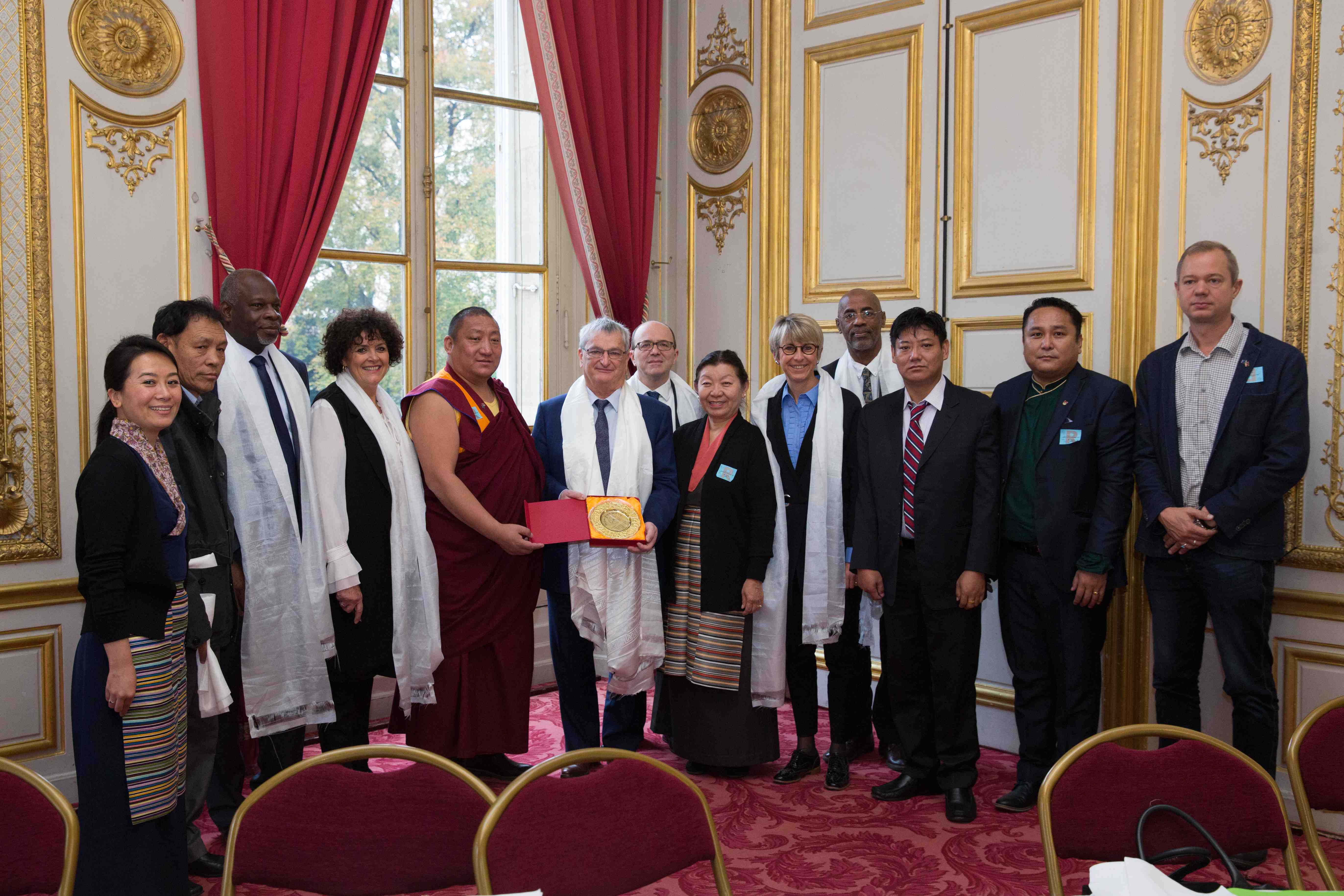French Senators with Members of the Tibetan Parliament in Exile