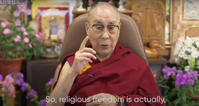 Dalai Lama: Religious freedom is 'freedom of our thought'