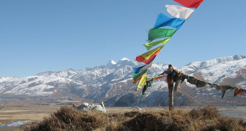 Tibetan prayer flags forced down by Chinese authorities