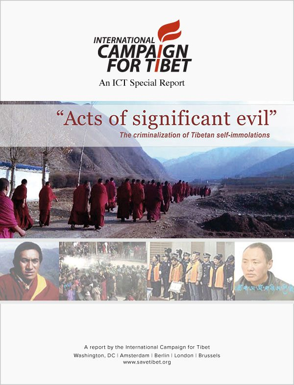 "New ICT report: ""Acts of significant evil – The criminalisation of Tibetan self-immolations"""