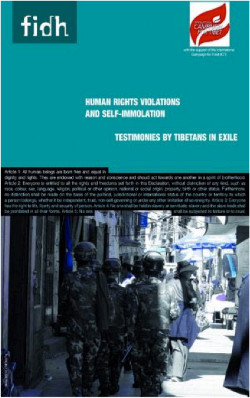 Human Rights Violations and Self-immolation: Testimonies by Tibetans in Exile