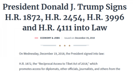 Tibet Reciprocal Access bill becomes law, marking new era in US-China relationship and US support for Tibetans